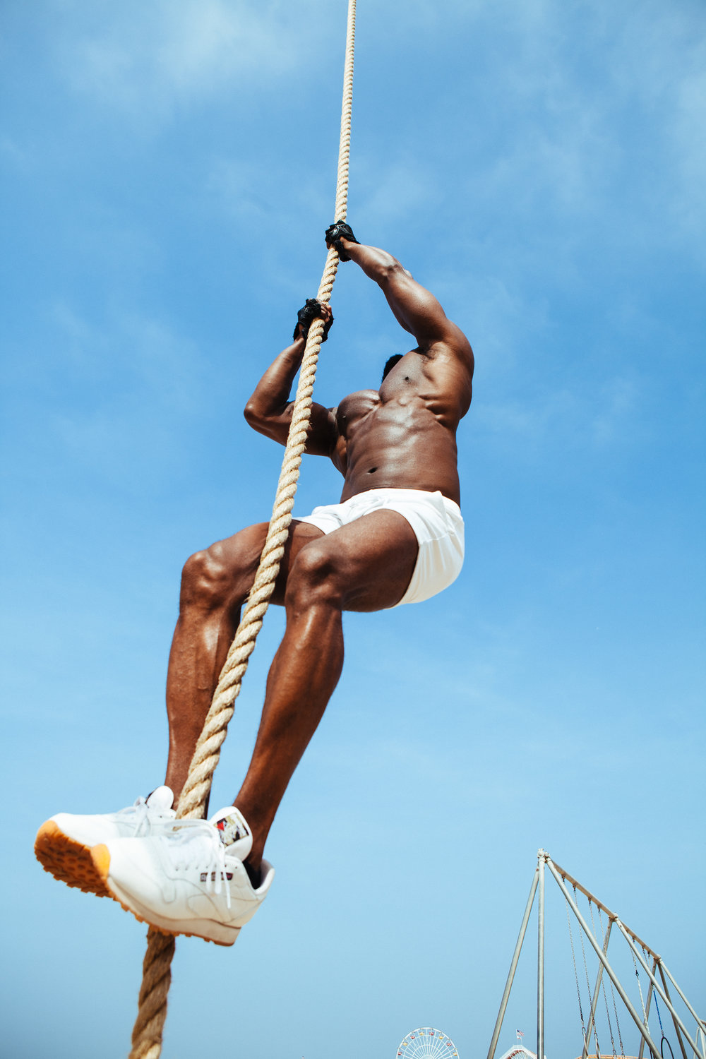 when working out is just another day at the beach rope climb the