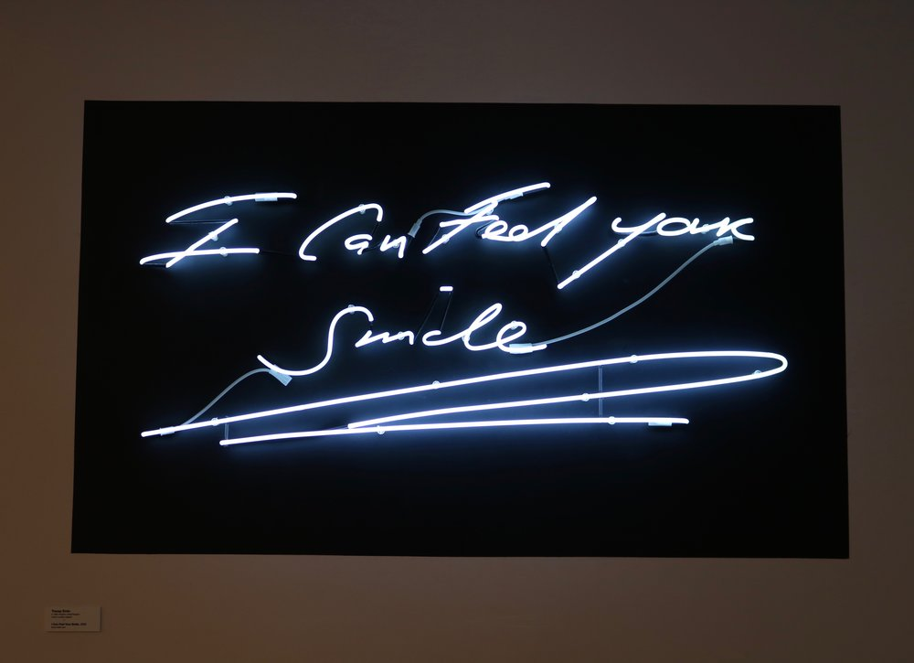 """Artist: Tracey Emin """"I Can See Your Smile,"""" 2005 Photo by: DJB for TBOT"""