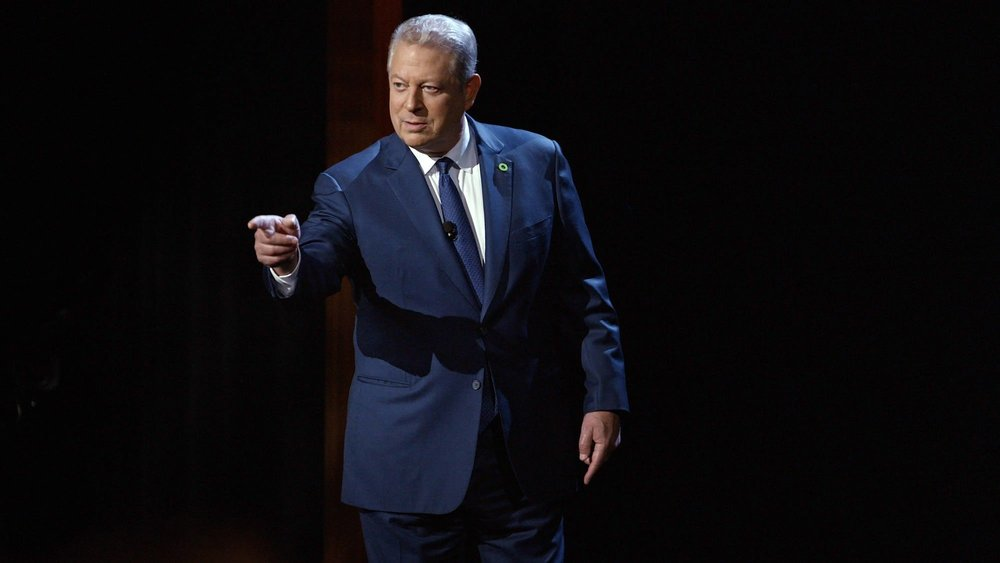 Al Gore presenting