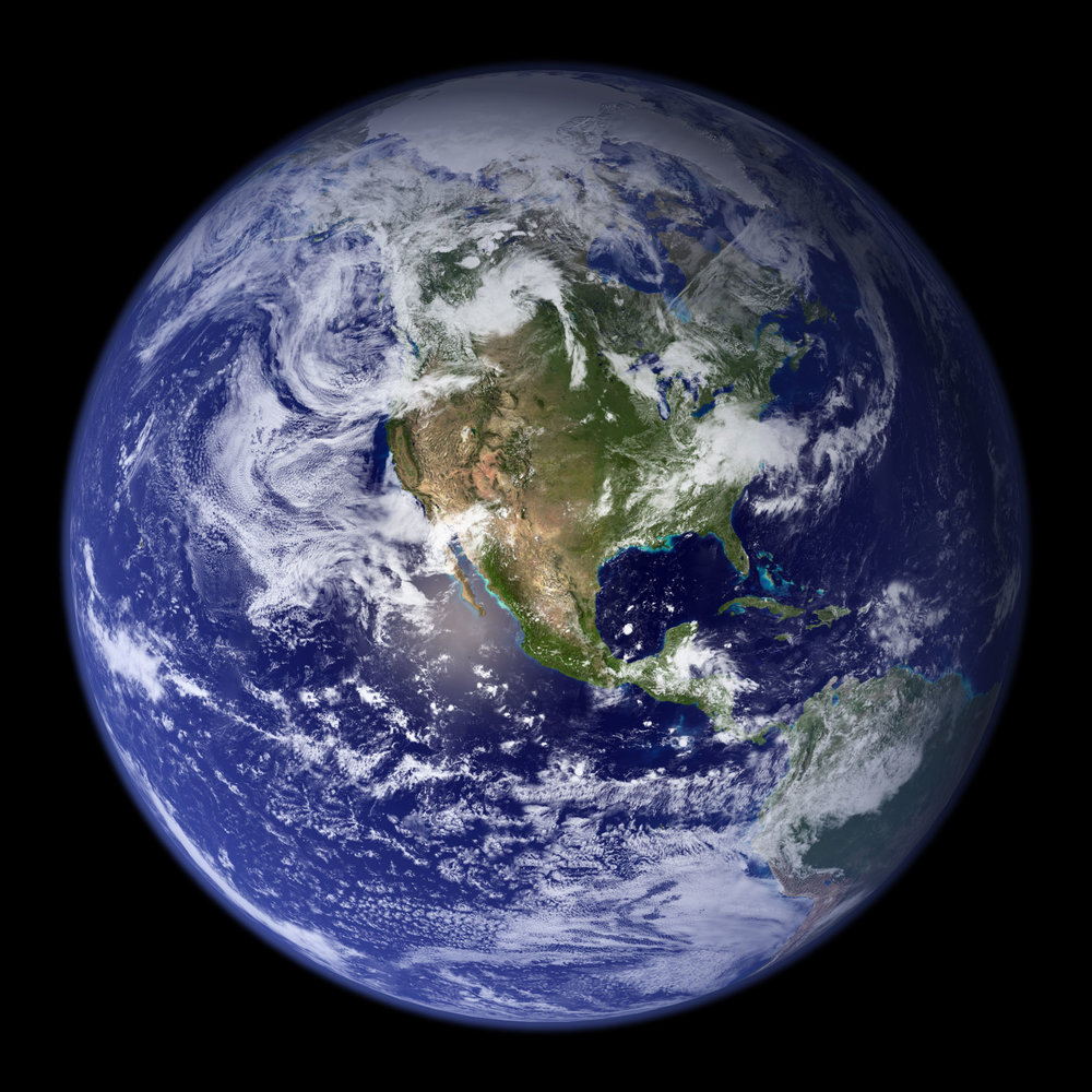 Mother Earth from outer space