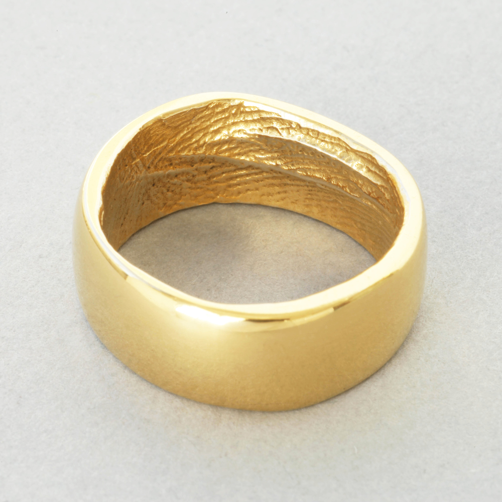 You & Me gold wedding ring