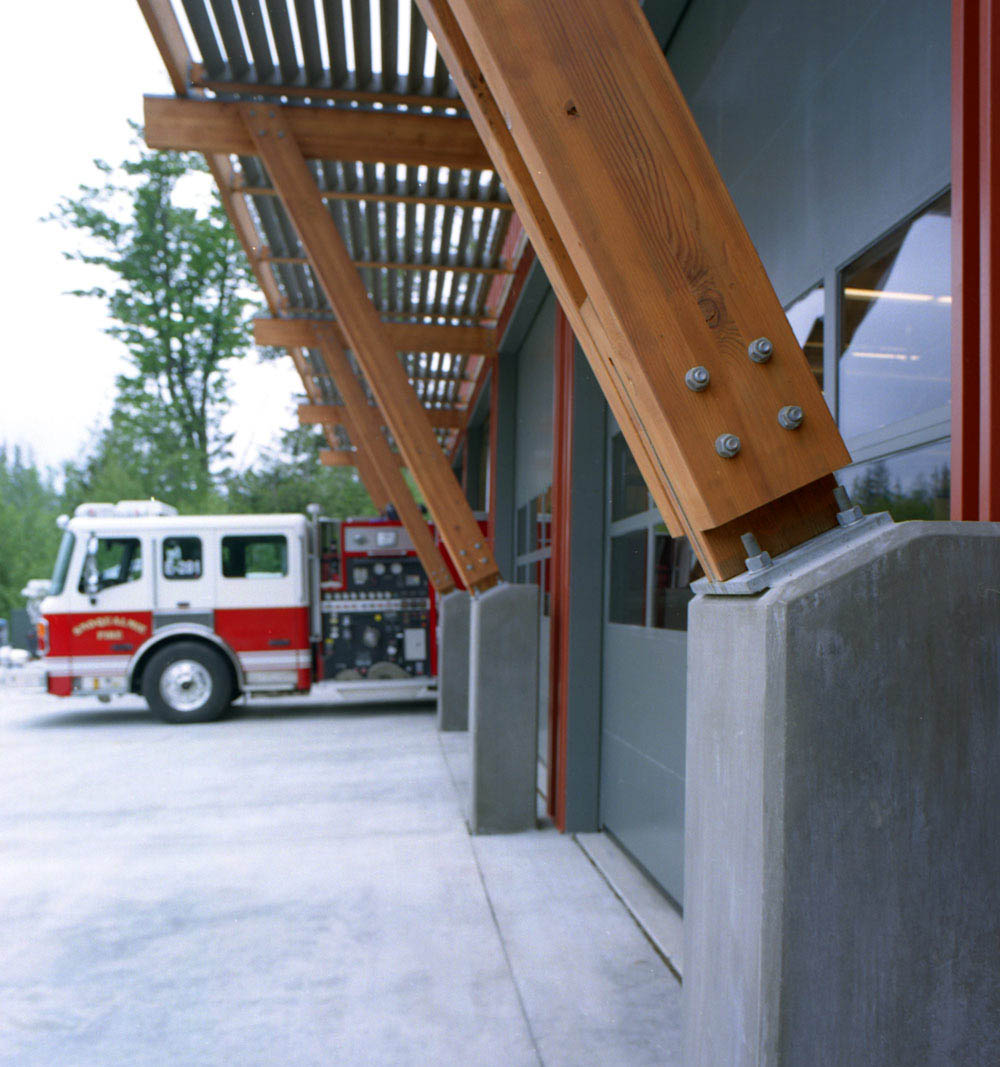 Snoqualmie Headquarters Fire Station in Washington designed by Fire Station Design Expert TCA Architecture