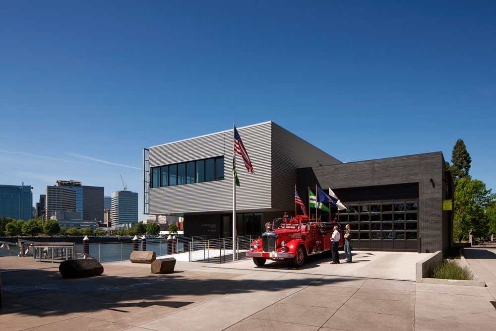 Portland Fire Station 21 in Oregon designed by Seattle Fire Station Experts TCA Architecture