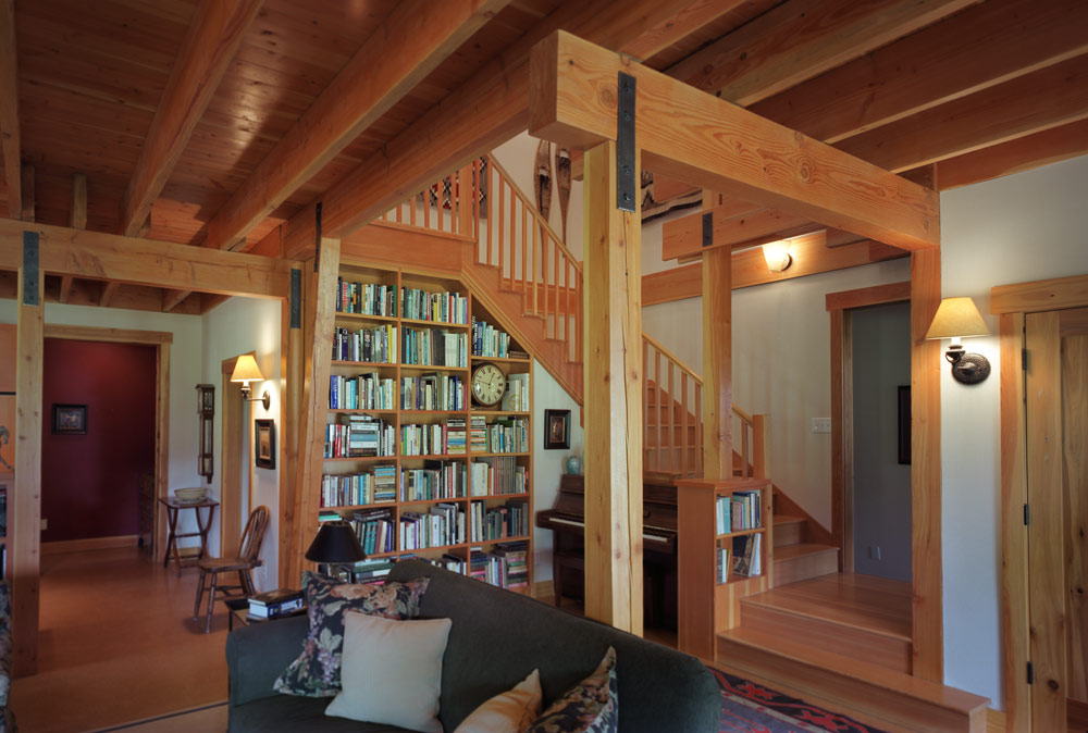 Seattle Residential Architect TCA Architecture designed this beautiful high end ranch house with a wrap around porch