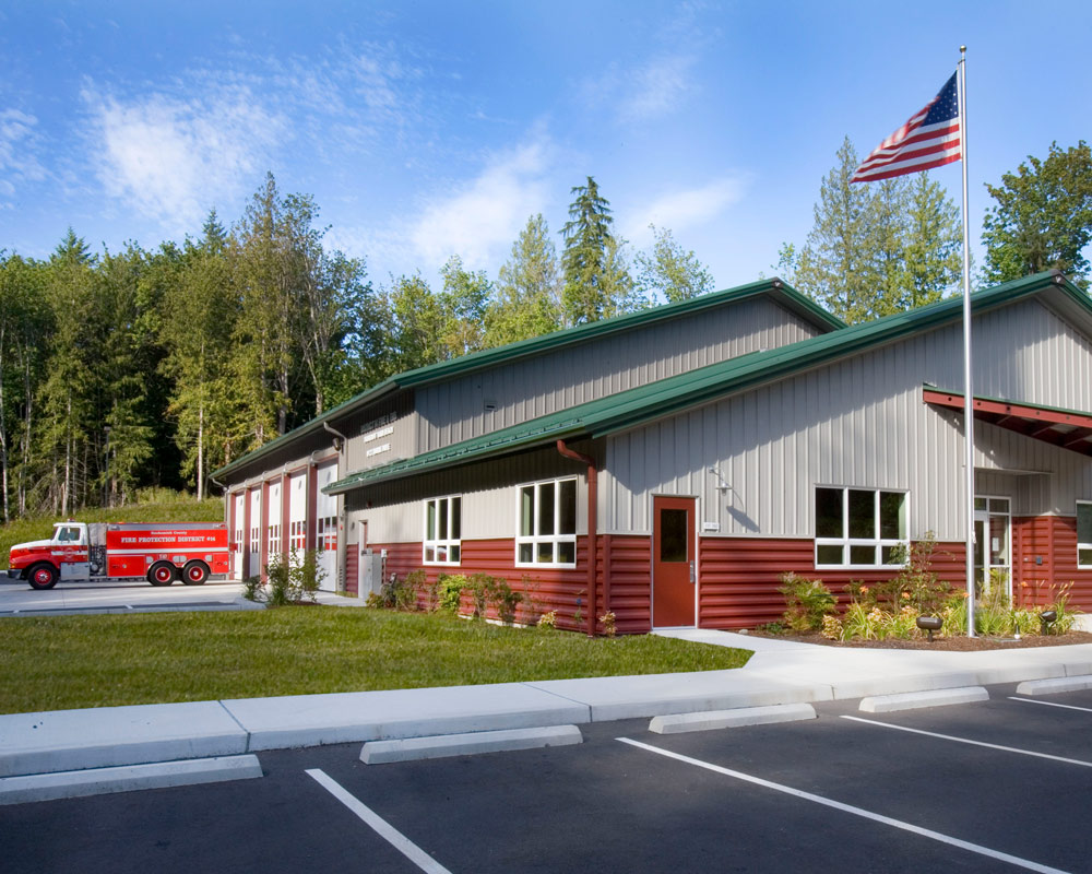 Snohomish County Warm Beach Fire Station 97 by Seattle Fire Station Design Expert TCA Architecture