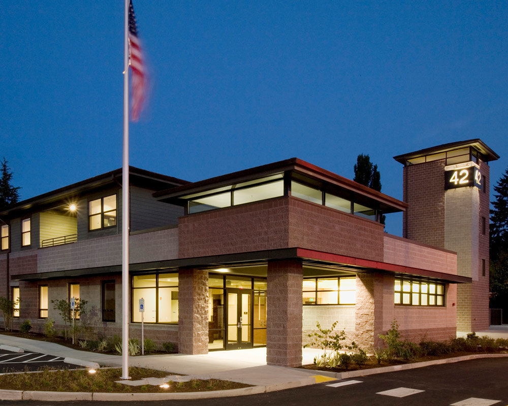 King County Fire District 40 Headquarters Fire Station by Seattle Architect TCA Architecture