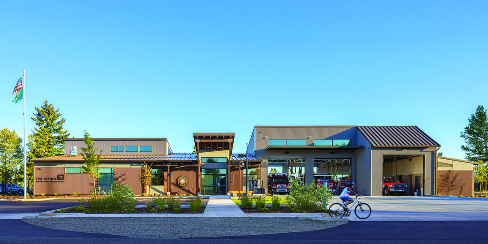 Fire Station Design expert TCA Architecture designed this station for Central Pierce
