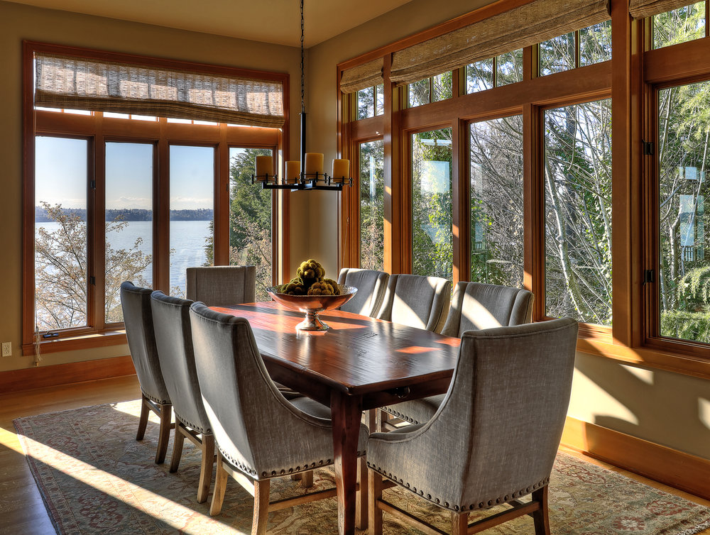 Photo of a cozy dining room in PNW home designed by a Seattle Residential Architect
