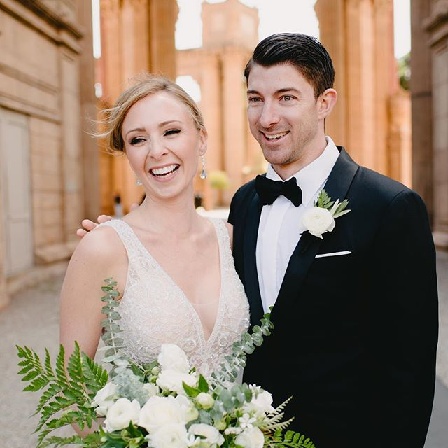 Wedding season is here in beautiful San Francisco!  Make your bridal beauty bookings  @figandclover salon or find me on @honeybook 💕 xo (Bride & Groom here are Erica & Jeff, make-up: Sacha B., photo & hair cred to follow) ✨