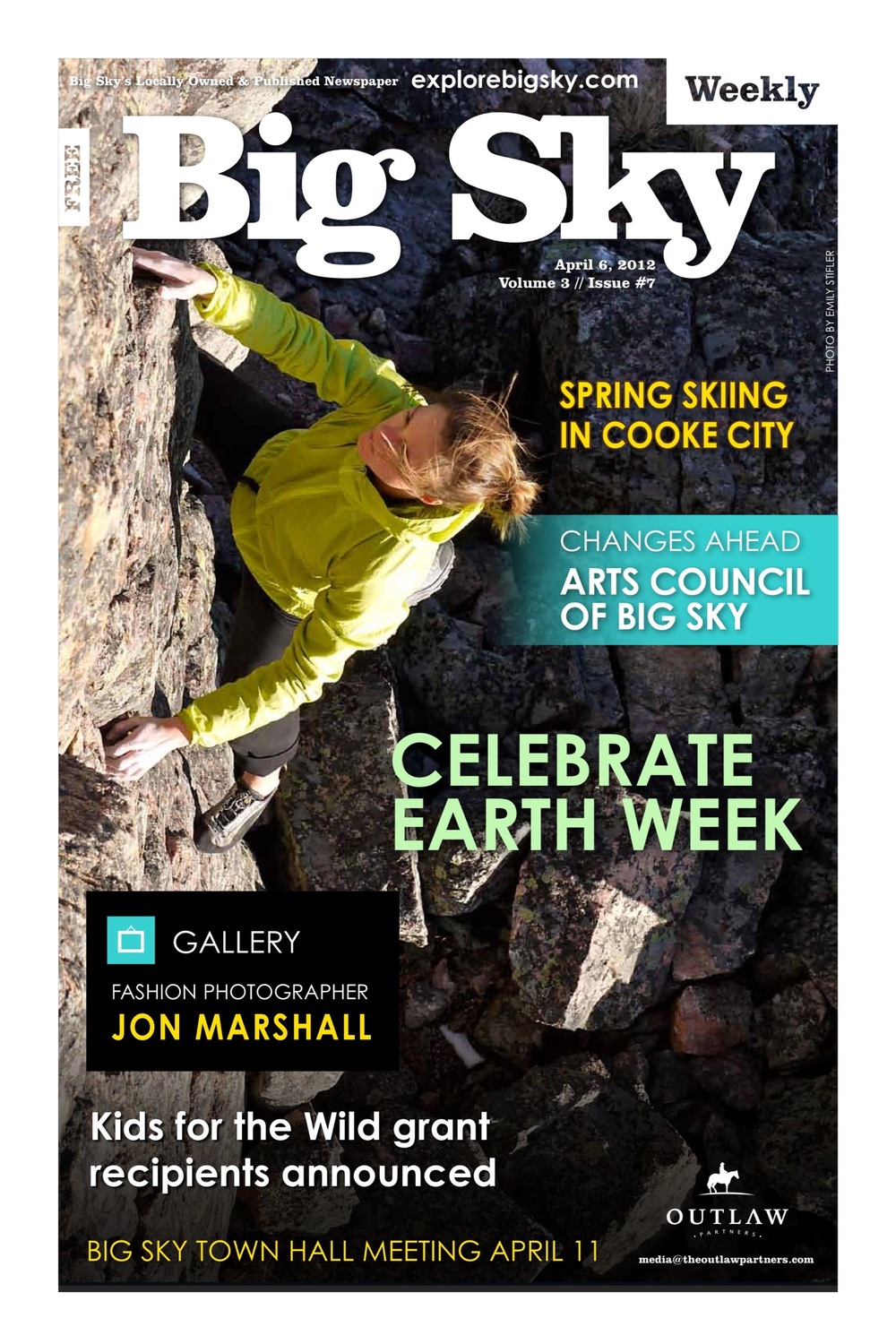 Cover photo Anne Gilbert Chase solo on Gallatin Canyon's Skyline Arête  There's gold in them hills If snow is money, Cooke City is one of the richest places on Earth.  Big Sky Weekly, April 2012