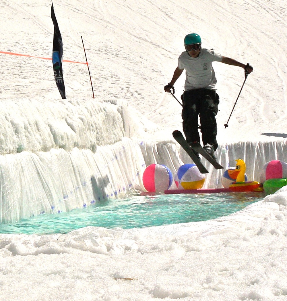 Pond skim, Big Sky Resort, Montana. (Photo by Emily Stifler Wolfe)