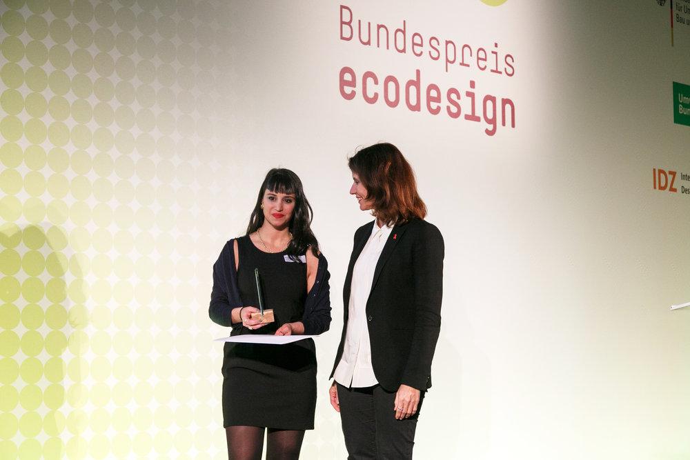 Parliamentary State Secretary Rita Schwarzelühr-Sutter Photo courtesy: Bundespreis Ecodesign