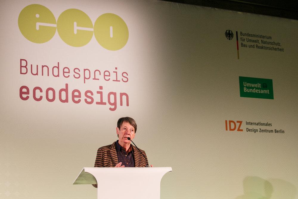 Federal Environment Minister Barbara Hendricks Photo courtesy: Bundespreis Ecodesign