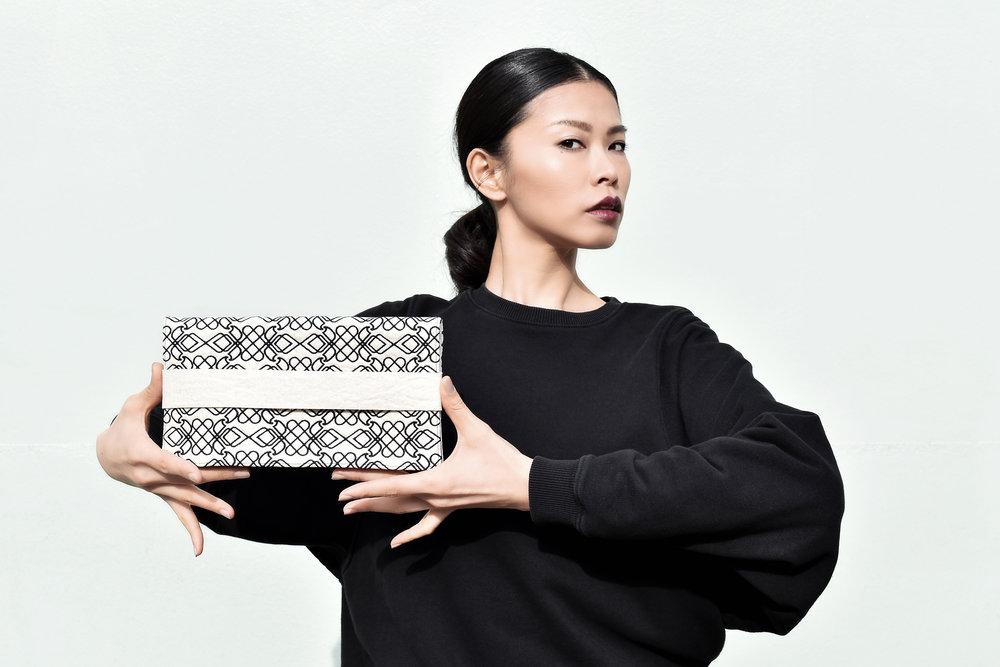 Design: Mayya Saliba - Photography: Roland Kunos - Model: Sayo Shiba - Material: Piñatex