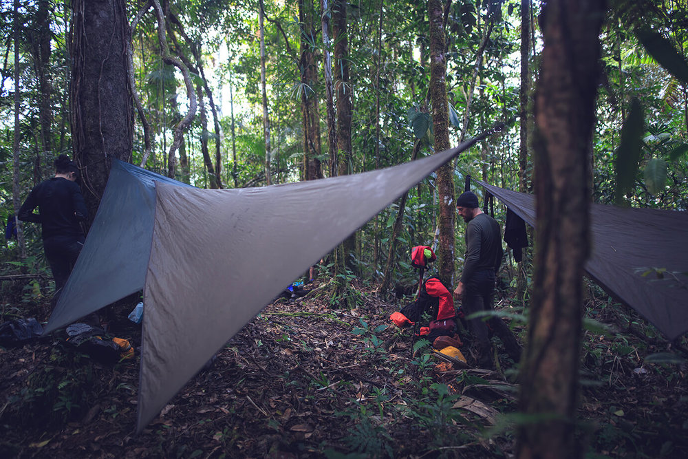Setting up camp for the final time. Photo: James Appleton