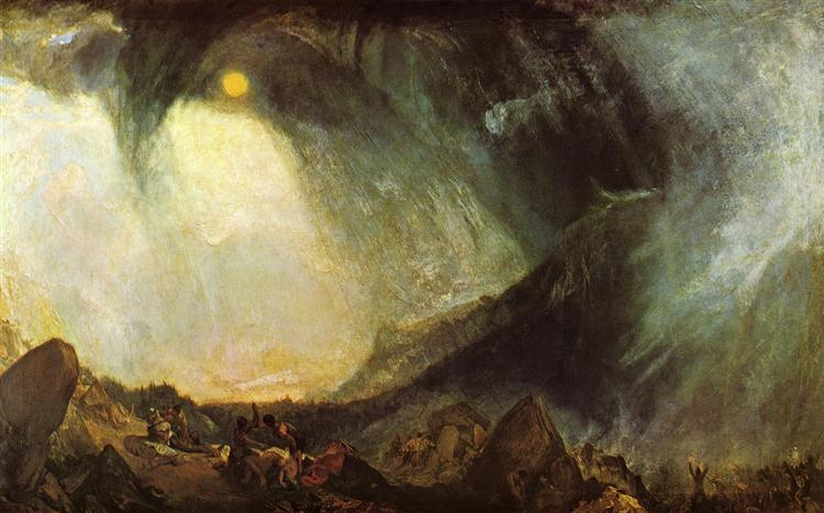 JMW Turner, Snow Storm, Hannibal and His Army Crossing the Alps, 1812.jpeg