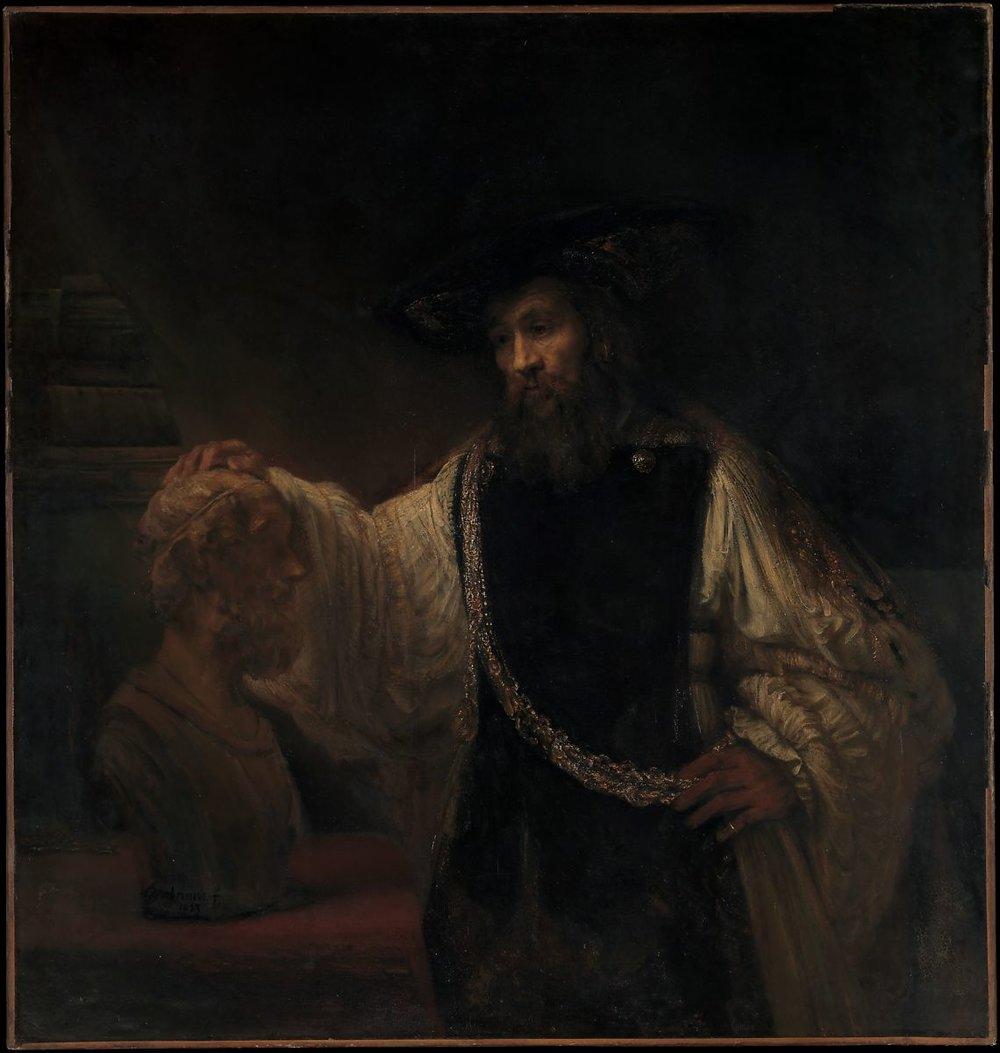 Rembrandt van Rijn, Aristotle with a Bust of Homer, 1653.jpg