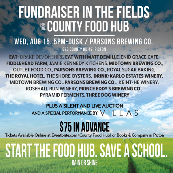 Fundraiser in the fields for County Food Hub at Parsons Brewing Company August 15 2018