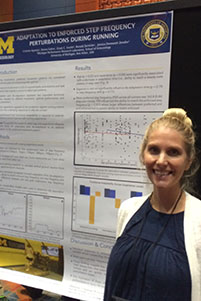 Cristine Agresta, with her poster, at ASB 2016