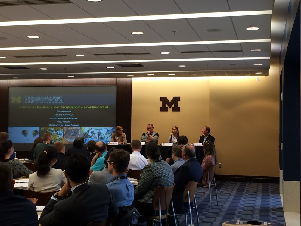 Jessica Deneweth Zendler  joined U-M colleagues to discuss sport research and technology.