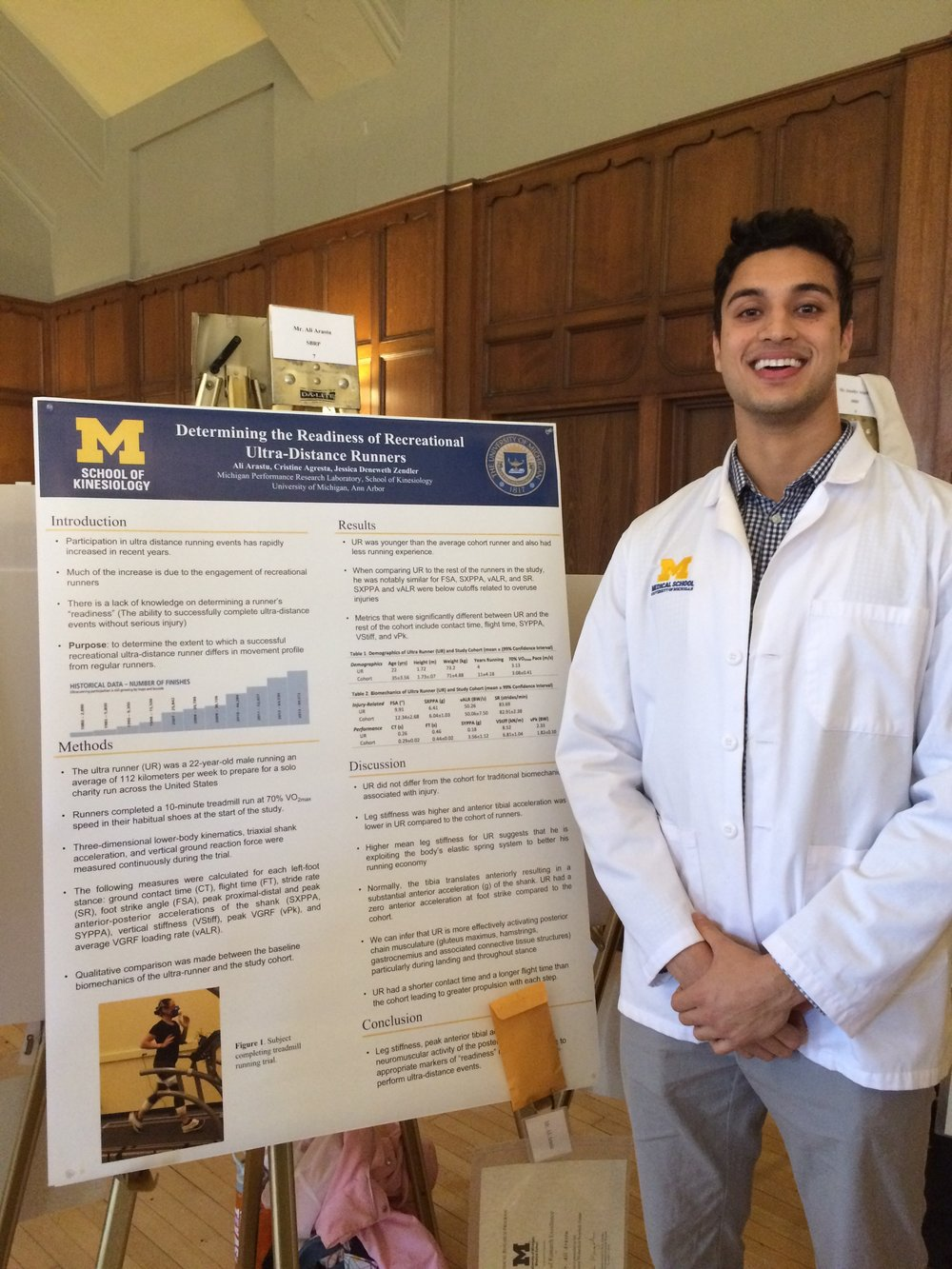 Ali Arastu with his poster at the SBRP Fall Research Forum at the Michigan League on Monday, November 7, 2016.