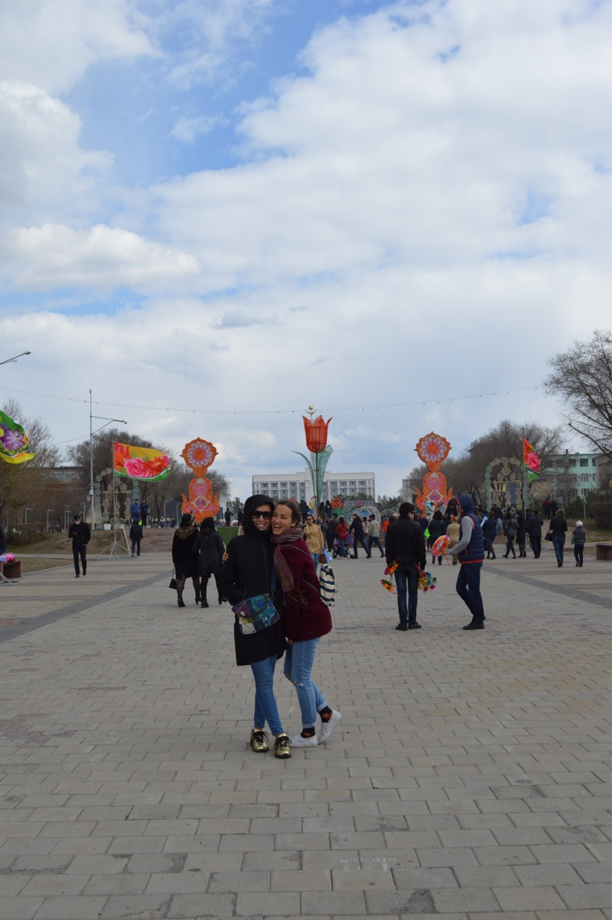 Celebrating May Day with my sister in Karaganda (my home town)