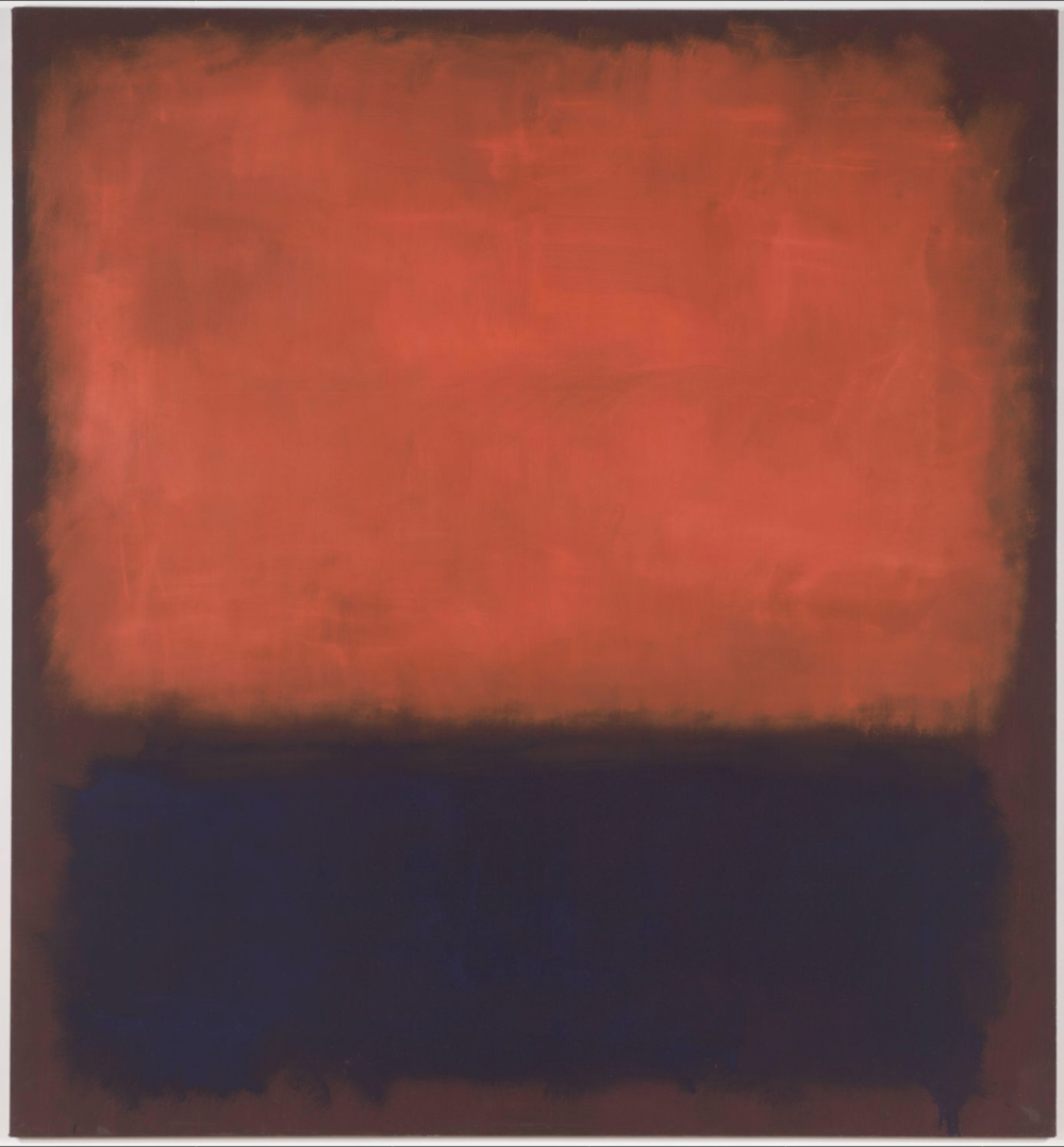 Mark Rothko, No. 14, oil on canvas, painting 1960, on view at SF Mama