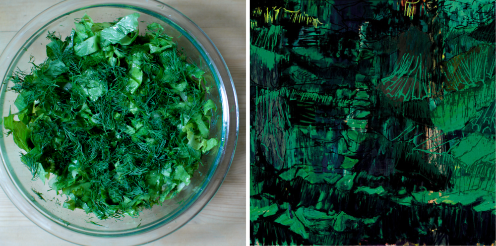 Lettuce & Dill Salad