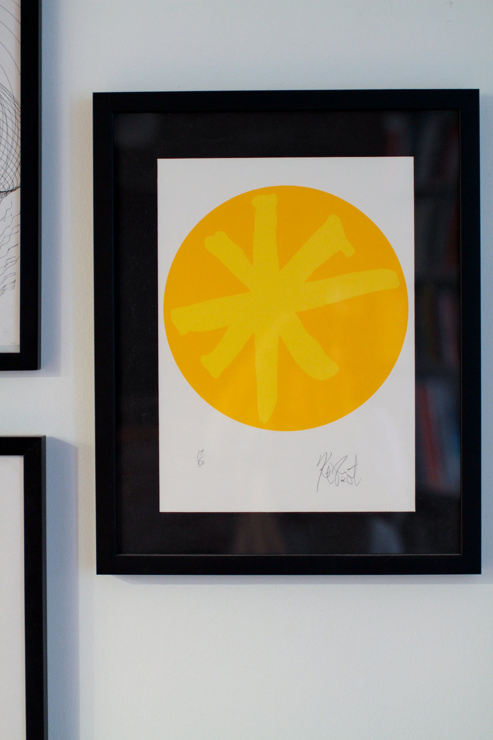 Yellow Portal , Kurt Vonnegut, silkscreen print by Joe Petro III, Print No. 17 of 50, signed 2006.
