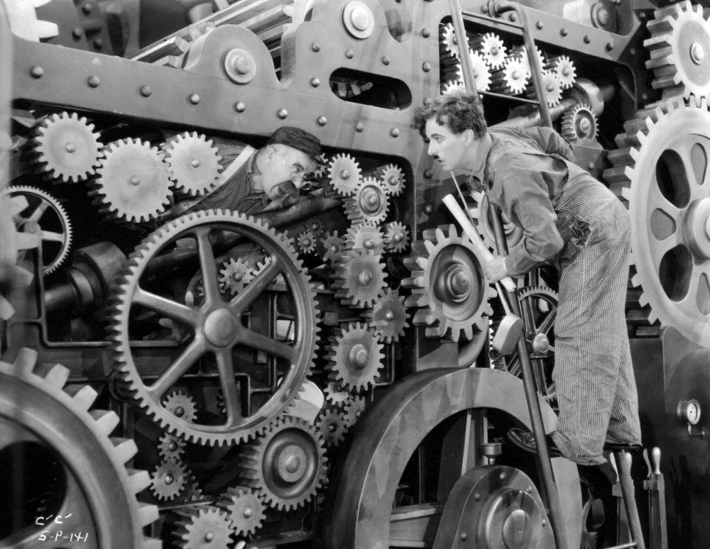 Modern Times , Charlie Chaplin, 1936