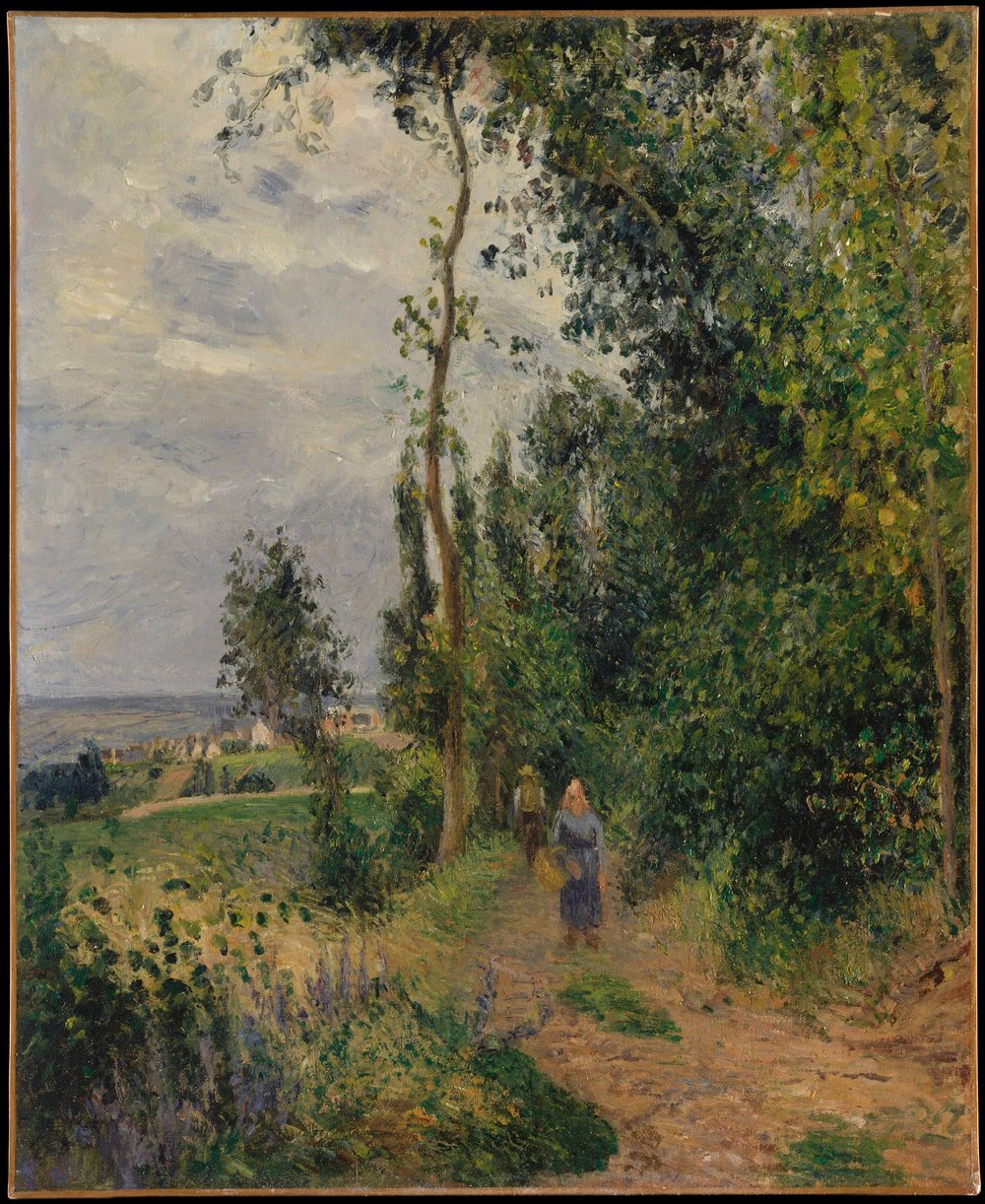 """Côte des Grouettes, near Pontoise"" by Camille Pissarro, ca 1878, oil on canvas,  Metropolitan Museum Collection"
