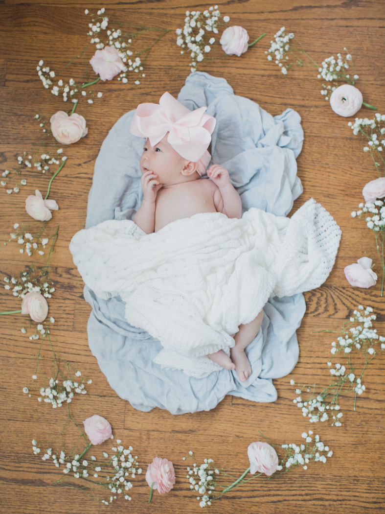 fort worth newborn photographer, dallas newborn photographer, newborn floral photographer, dallas lifestyle photographer, fort worth lifestyle photographer, newborns with bows, allie michie lucas, matthew lucas, lifestyle newborn session, film newborn photographer, film newborn photographer fort worth