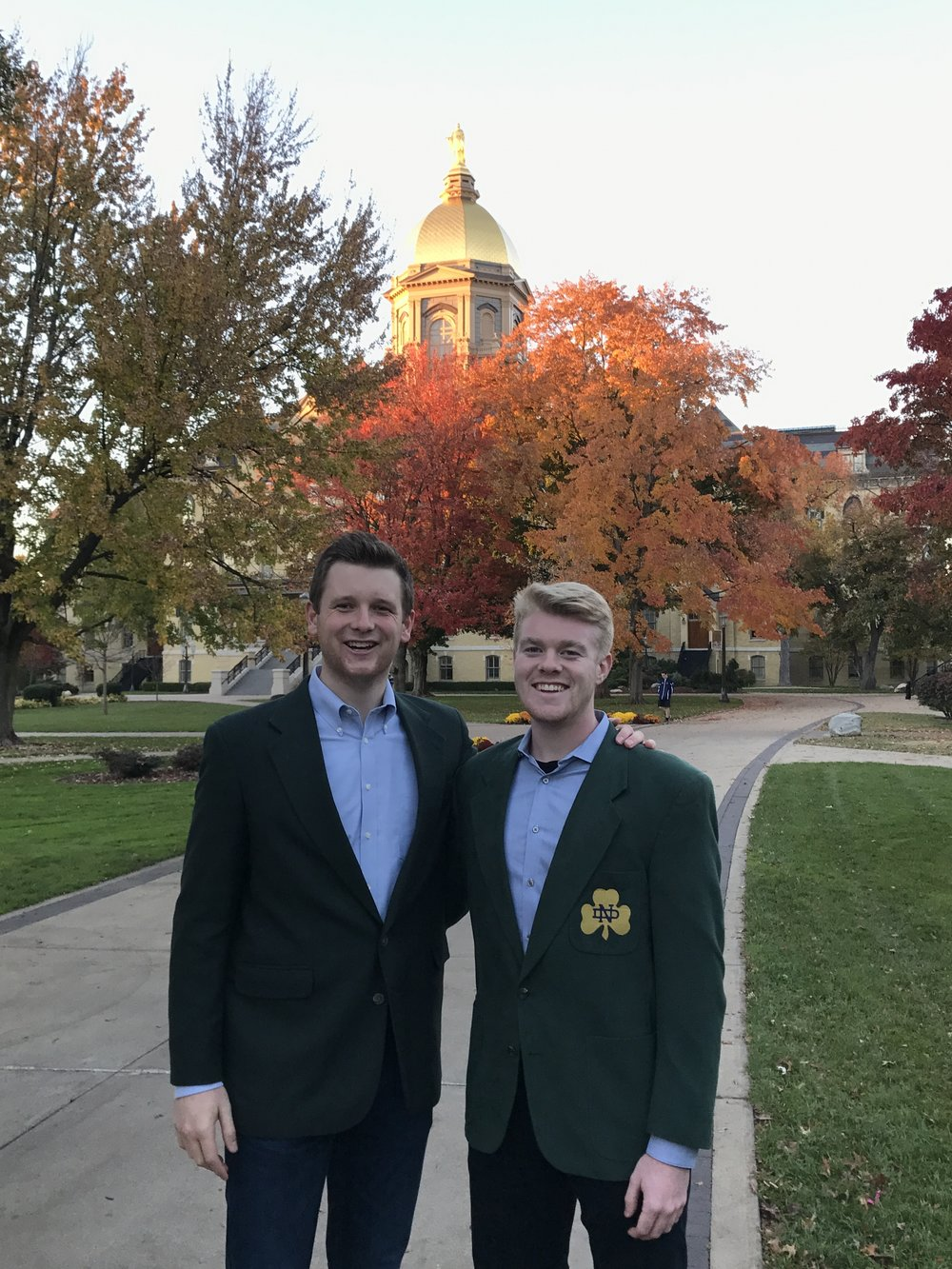 Chandler Crane with his roommate, Will Cunningham