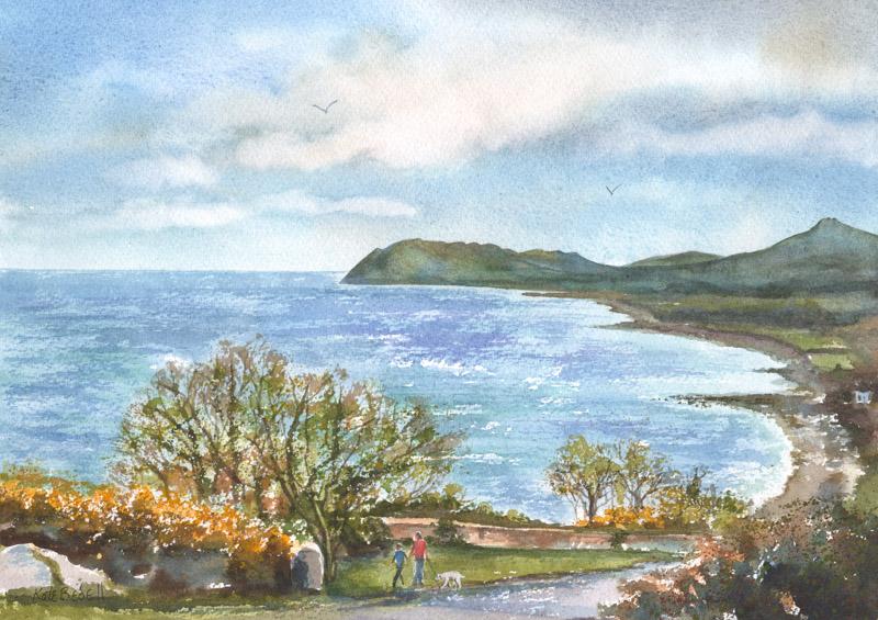 Killiney Bay and Bray Head from Killiney Hill