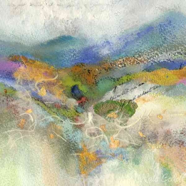 Homeland 5 x 5 inches Watercolour, Pastel and Silk Paper