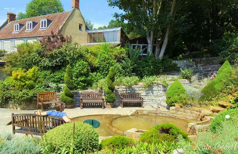 The Vesica Pool at the Chalice Well Gardens, Glastonbury.