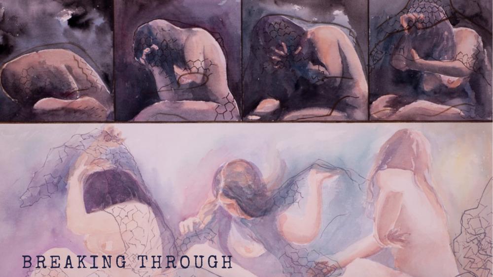 Breaking Through. Watercolour 22 x 30 inches RHA Exhibition 1988