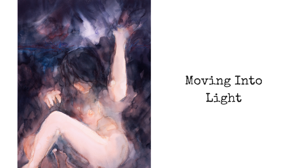 Moving Into Light Watercolour 22 x 30 inches