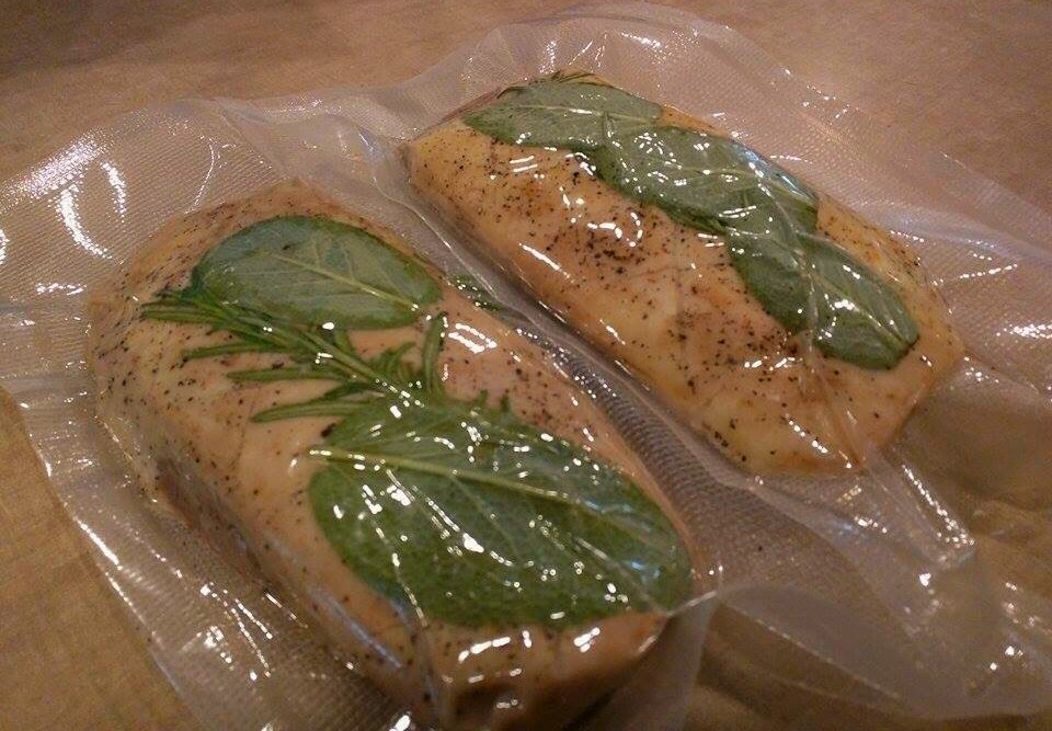 Rosemary Sous Vide Duck Breast -