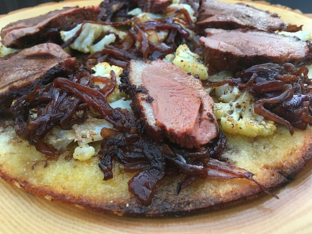 Smoked Duck Pizza -