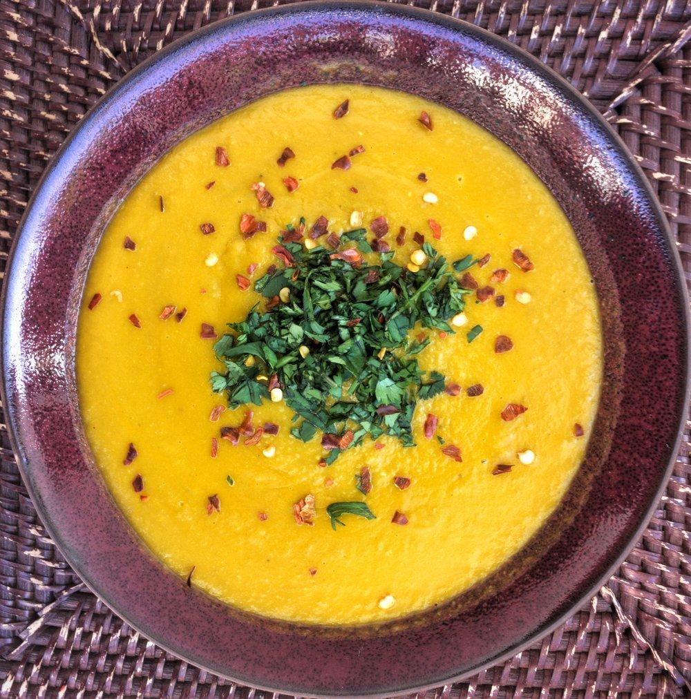 Duck fat split pea soup
