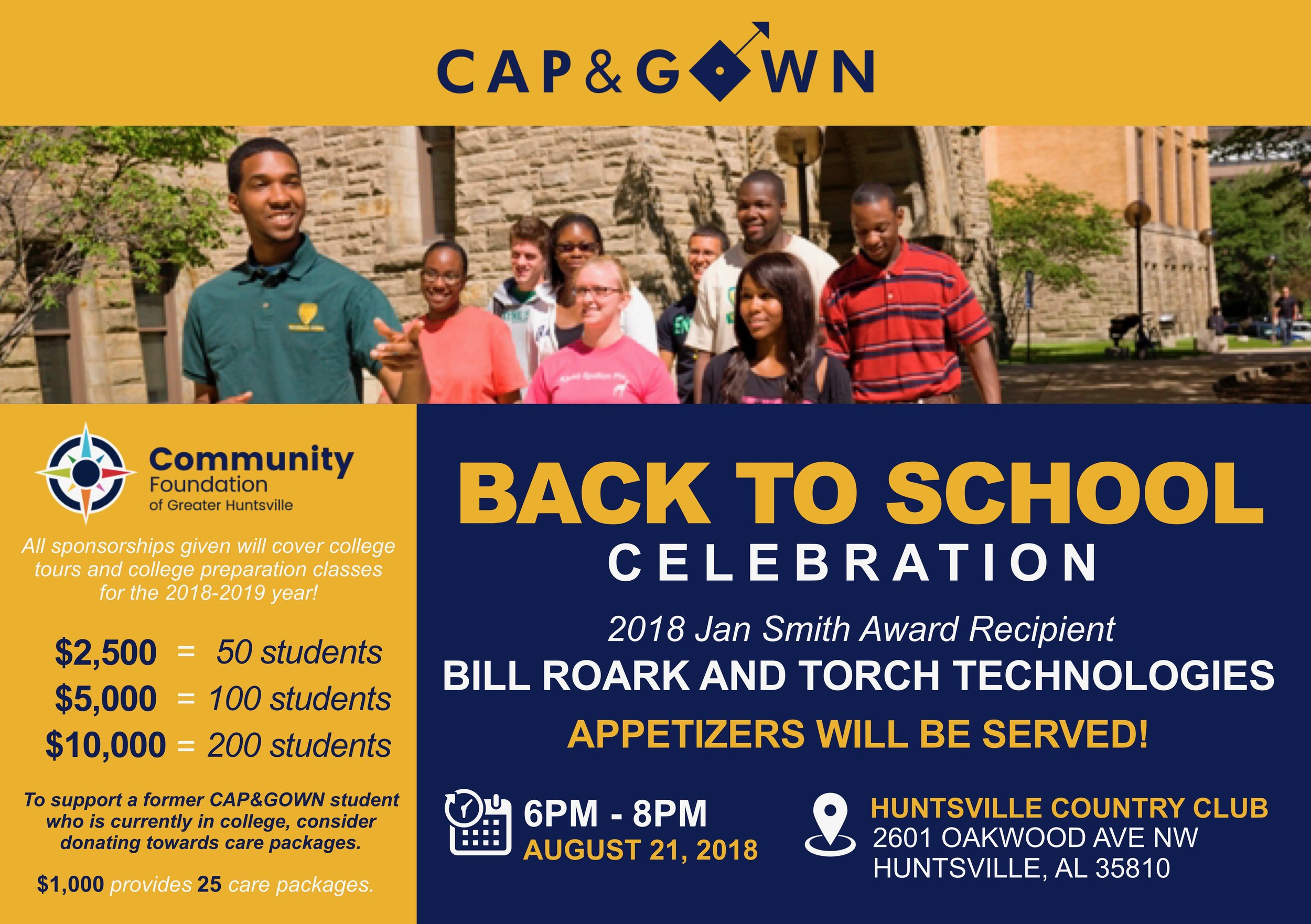 2018 Back to School Celebration — The Cap & Gown Project