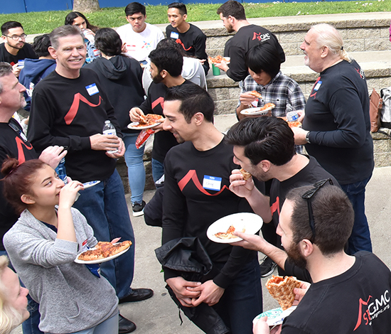 Students enjoy a  Meet and Greet   Luncheon  with the SFGMC singers after a performance of RHYTHM.  Photo: Gareth Gooch