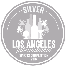 SILVER MEDAL WINNER 2016 LOS ANGELES INTERNATIONAL SPIRITS COMPETITION