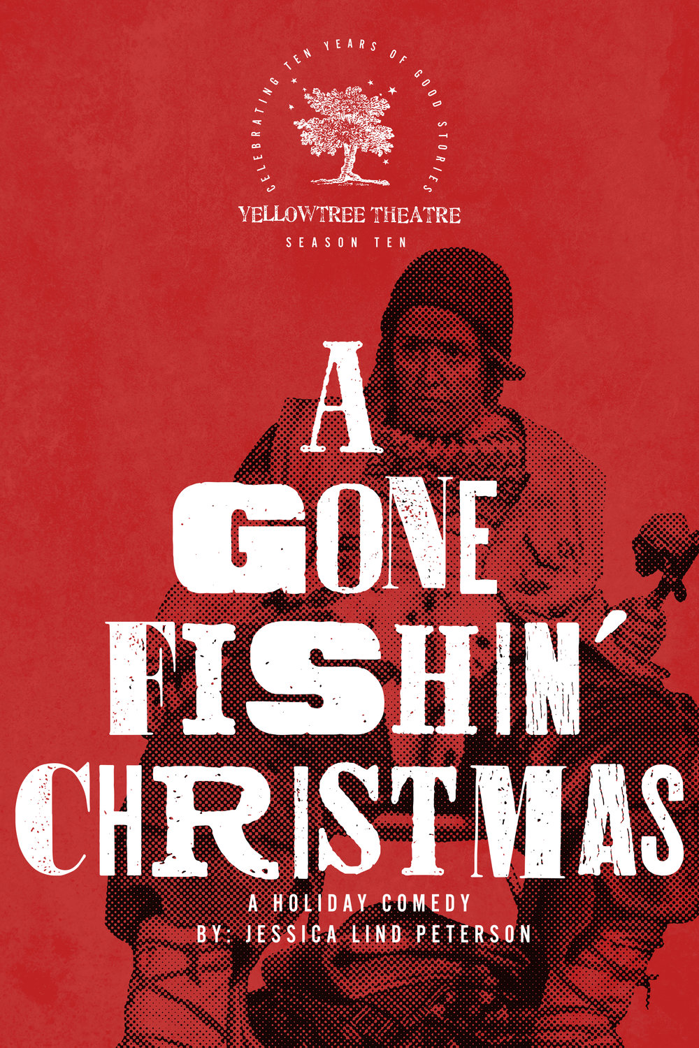 A Gone Fishin' Christmas Postcard