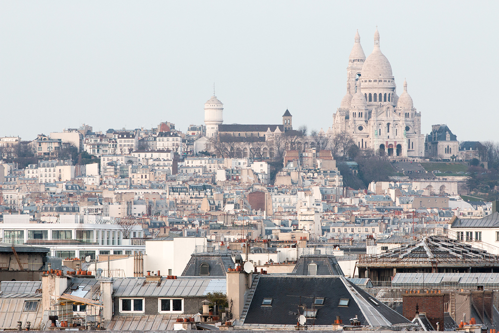 montmartre view from grand hotel du palais royal
