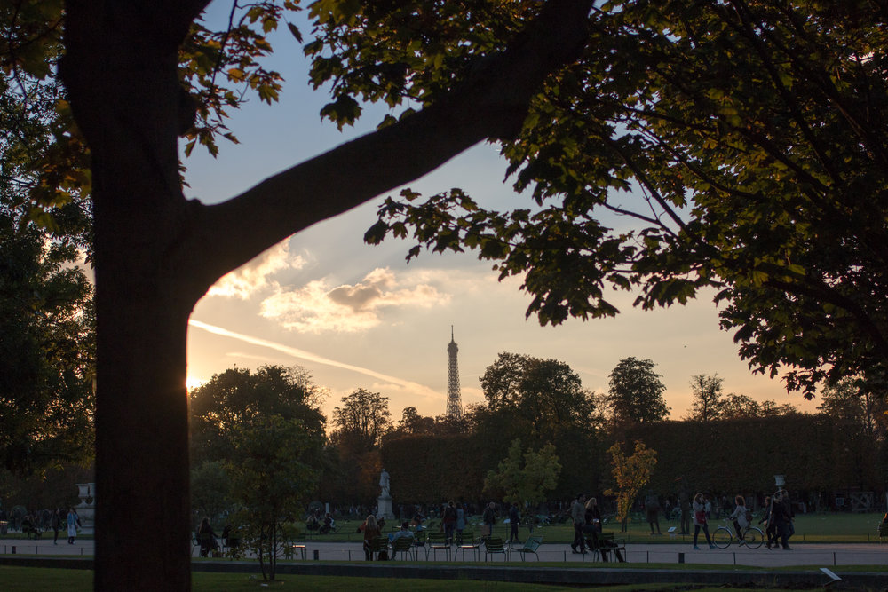 Paris sunset @rebeccaplotnick