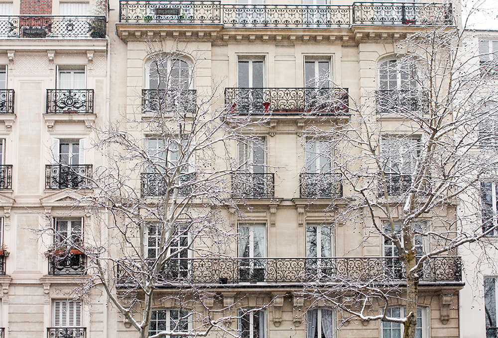 paris apartments in the snow @rebeccaplotnick