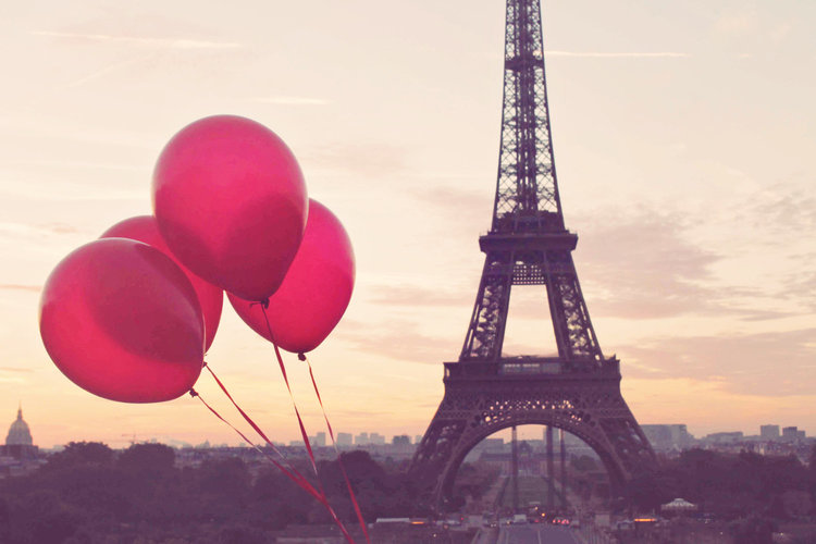Paris Is Love Red Balloons In Paris Eiffel Tower Paris Sunrise Paris Photography Love In Paris French Home Decor Red