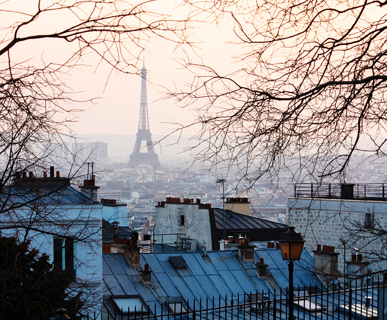 sunset in montmartre